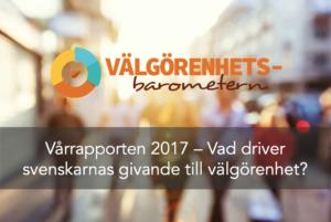 Vårrapport 2017 Välgörenhetsbarometern - Pressmeddelande
